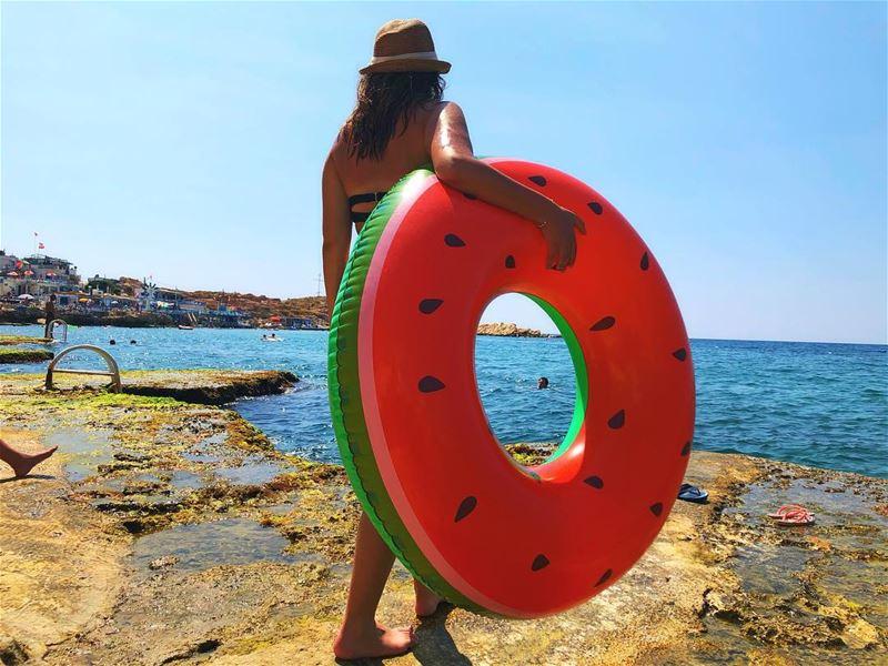 Vacation Mood On 🍉 summerbreak vitaminsea lebanon livelovebeirut ... (Tahet el-rih تحت الرّيح)