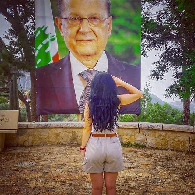 May God Bless him for Lebanon ❤ Our lovely president General Michel Aoun ... (Douma, Liban-Nord, Lebanon)