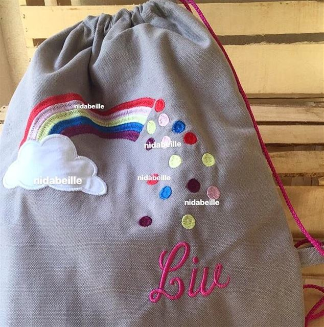 LIV LOVE LIFE 🌈 Write it on fabric by nid d'abeille  kids  backpack ...