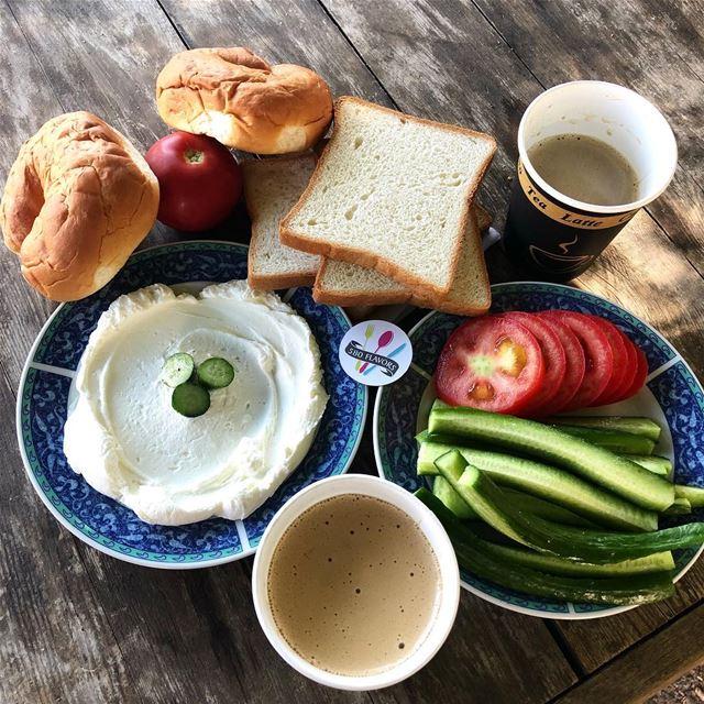A simple tasty breakfast 😍😍 sebhel ... 580flavors lebanesefood ... (Sebaail, Liban-Nord, Lebanon)