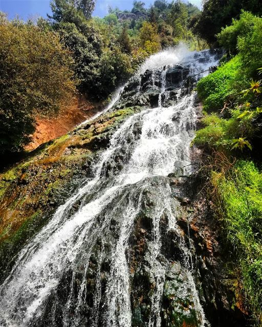 water is the driver of nature.. ouyounelsamak akkar watterfall ... (Ouyoun El Samak Waterfalls)