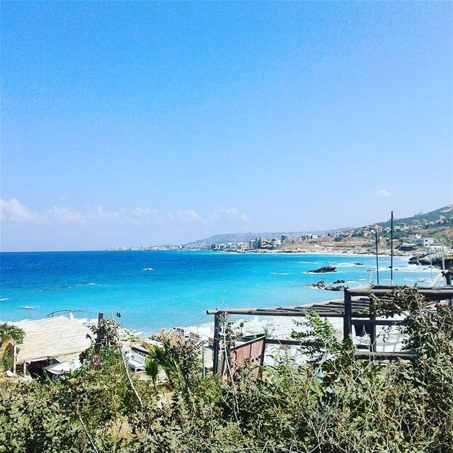 My lebanon sea ocean blue nature natural batroun beach scenery ...