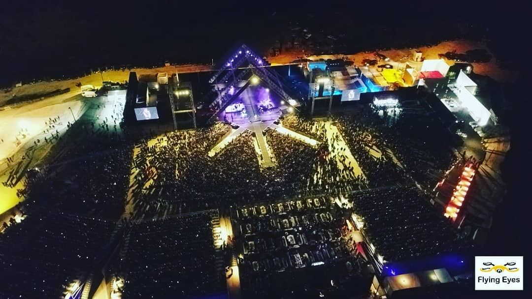 As usual, we are everywhere covering from above!Live from @shakira... (The Cedars of Lebanon)