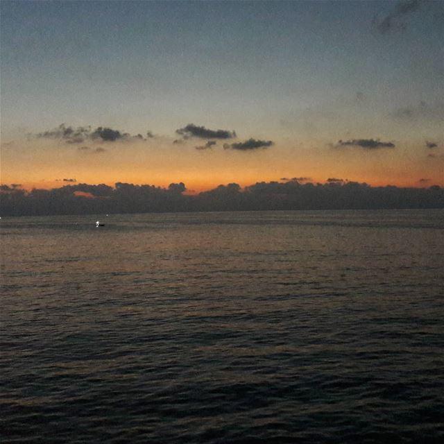 Clouds over the horizon beirut lebanon sea ... (Beirut, Lebanon)