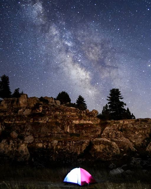 The Milky way - Camping under the stars. lebanon milkyway sky stars ... (El Qamouaa)