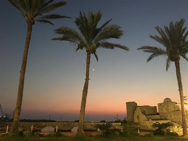 Saida Sunset myhometown mycity mysaida sunset sunsetaroundtheworld ... (Saida Rest House)