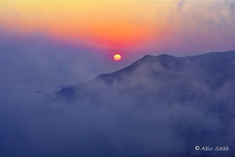 Simplicity.. .. lebanon sannine simplicity sun colorful sunset ... (Mount Sannine)
