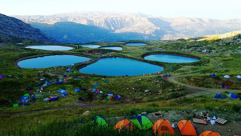 A bad day camping is still better than a good day working ... akoura... (Akoura, Mont-Liban, Lebanon)