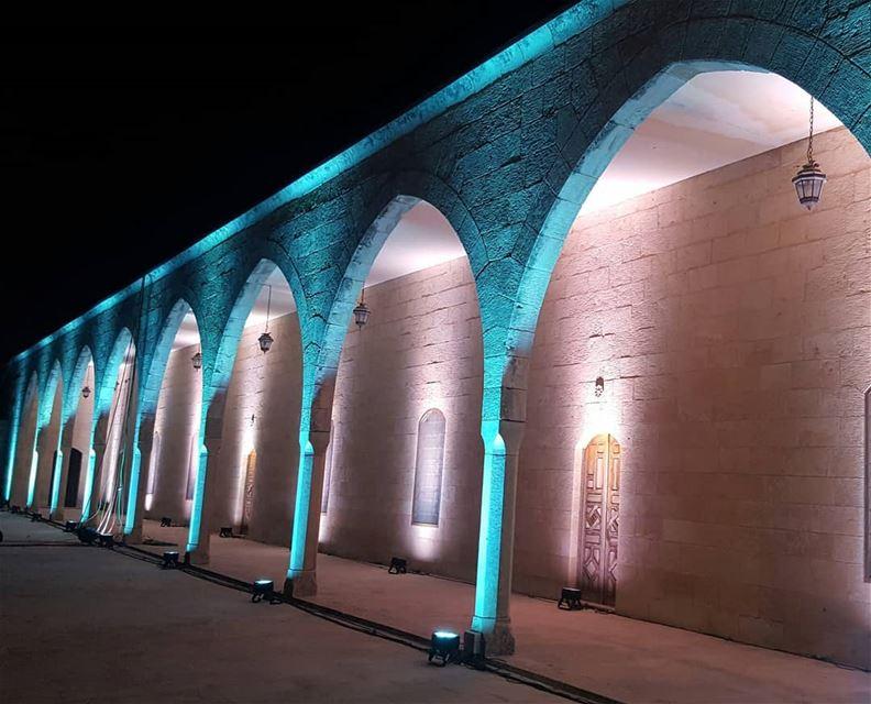 art architecture heritage oldhouses beautiful lights shadow dark... (Beiteddine Palace)