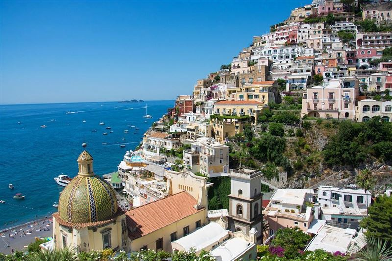 Italy in vibes... positano italy the oldtown views lonelyplanet ...