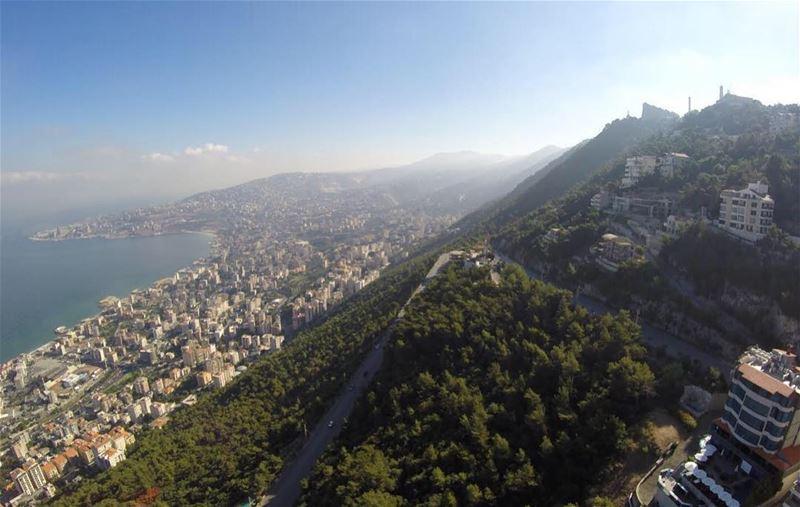 A beautiful day in the heart of Harissa 🌞💙 GoodMorning ... (Harîssa, Mont-Liban, Lebanon)