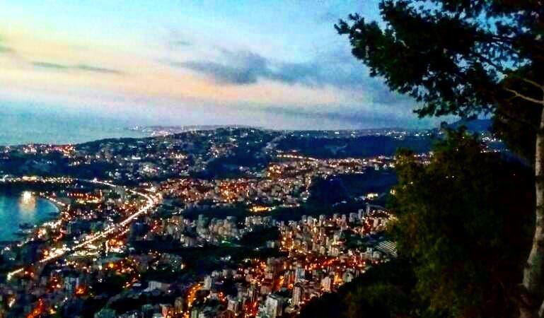 jounieh bynight fromharissa ... (Harisa, Mont-Liban, Lebanon)