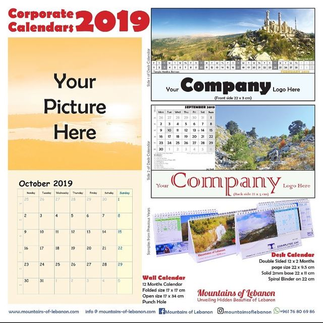 It's this time of the year to start thinking of you corporate 2019...