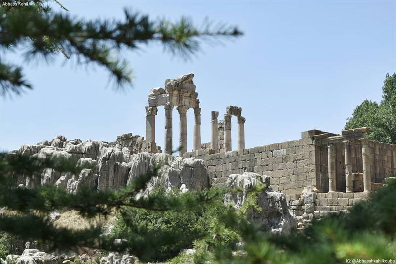 ".• "" Faqra Ruins Temple ""is an archaeological site of Lebanon, located... (Kfardebian,Mount Lebanon,Lebanon)"
