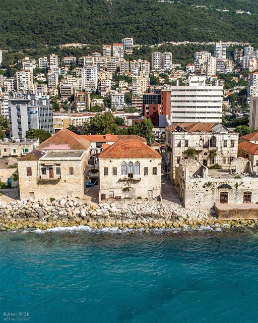 Hello from the other side 🌊...  lebanon  jounieh  dji  drones ... (Joünié)