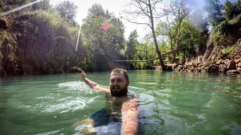 BEAT THE HEAT 😎 Cold Fresh Water River Rahbe Akkar Lebanon... (Ar Rahbah, Liban-Nord, Lebanon)