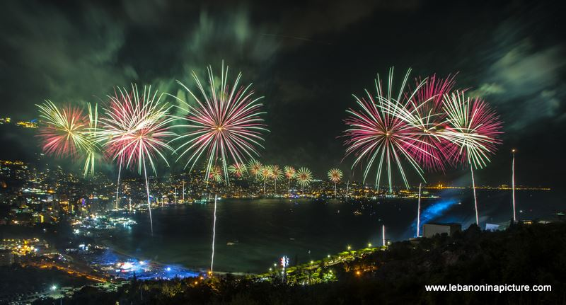 Jounieh International Festival 2018 - Fireworks Pictures (Jounieh Bay)