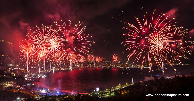 Jounieh International Festival 2018 - Fireworks Pictures (Jounieh Bay)