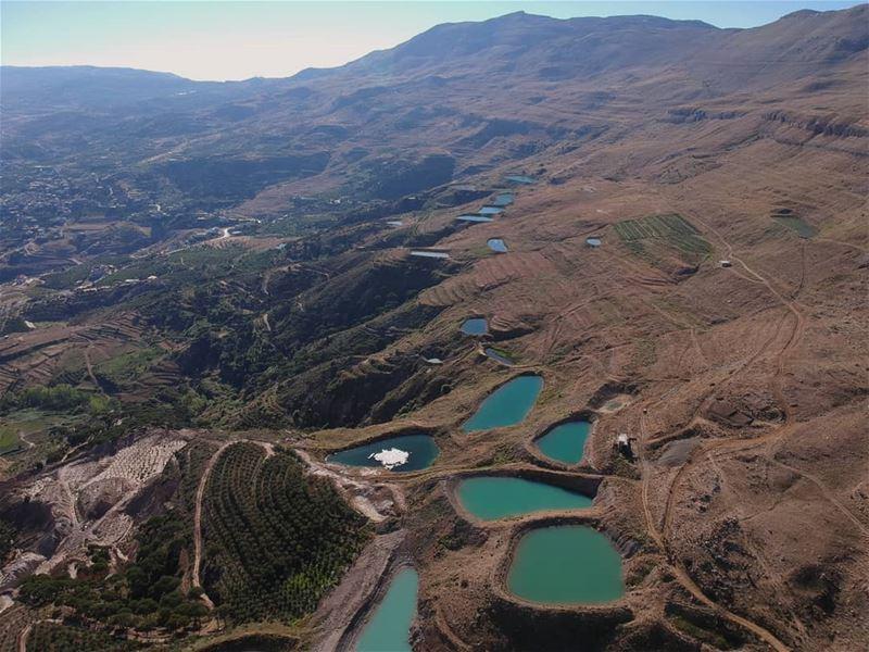 sunrise mountainview landscape aerialphotography drone... (Falougha, Mont-Liban, Lebanon)