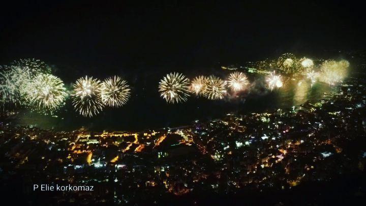 fireworks fireworks💥 drone dronephotography flycam sky lebanon ... (Harîssa, Mont-Liban, Lebanon)
