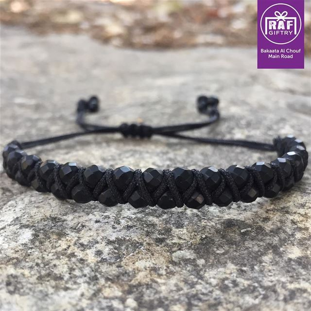 Black addict 🖤 raf_giftry...... bracelet black mensstyle gift ... (Raf Giftry)