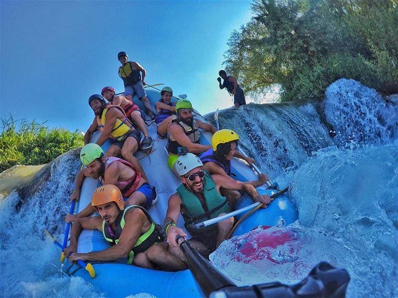 Summer vibes by @architectonthemove rafting raftingtrip assiriver ... (Al Assi River-Hermel, Lebanon)