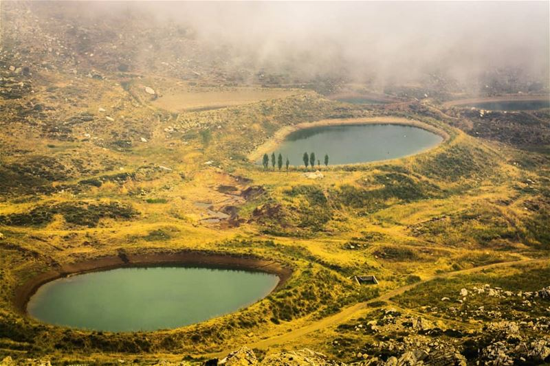 lake aqoura laqlouq lebanon nature cloud ...