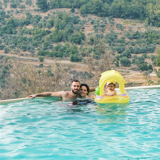 A weekend well spent 💦.... familygoals family bkerzay lebanon ... (Bkerzay)