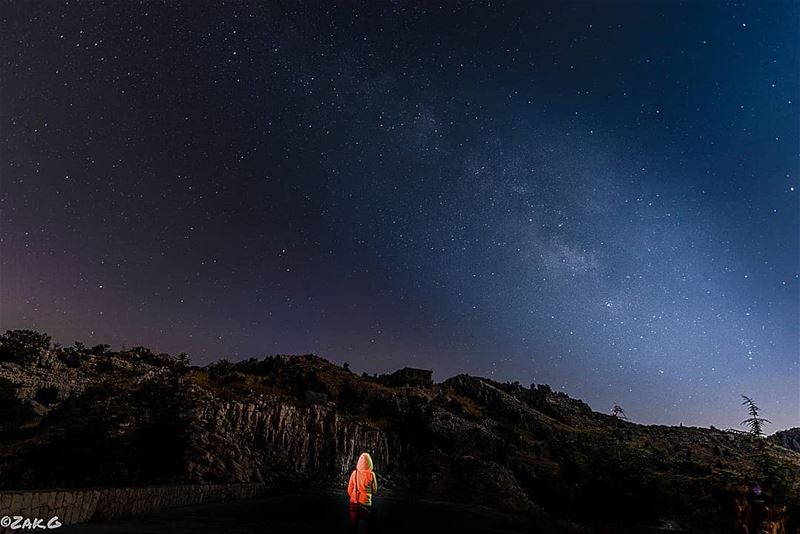 """Look up at the stars and not down at your feet. Try to make sense of what... (Jaj, Mont-Liban, Lebanon)"
