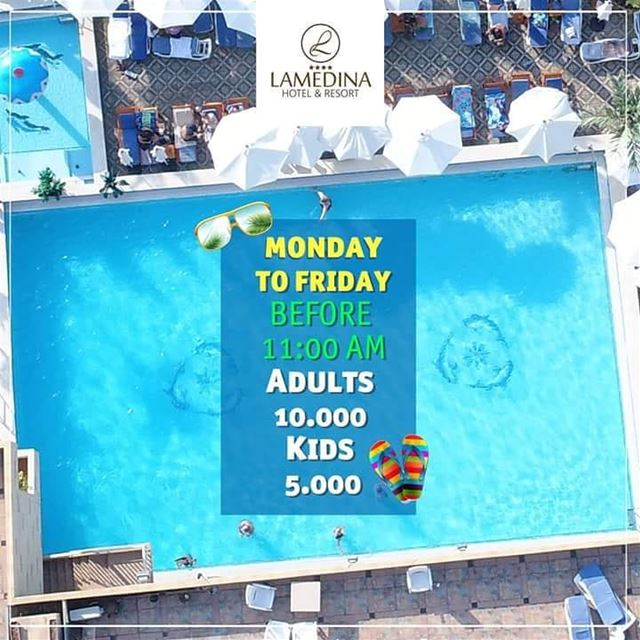👀❗BREAKING NEWS❗💦 Monday to Friday before 11:00 AM Entrance to ... (Lamedina Hotel, Beach Club & Resort)