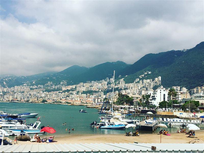 jounie kesserwan lebanon harissa view mountains mediterranean ... (Jounieh Summer Festival)
