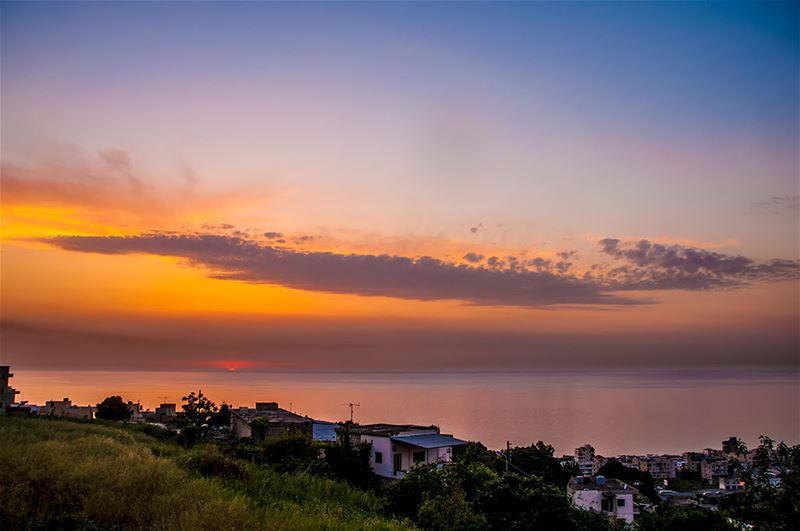Orange Sunset from Safra
