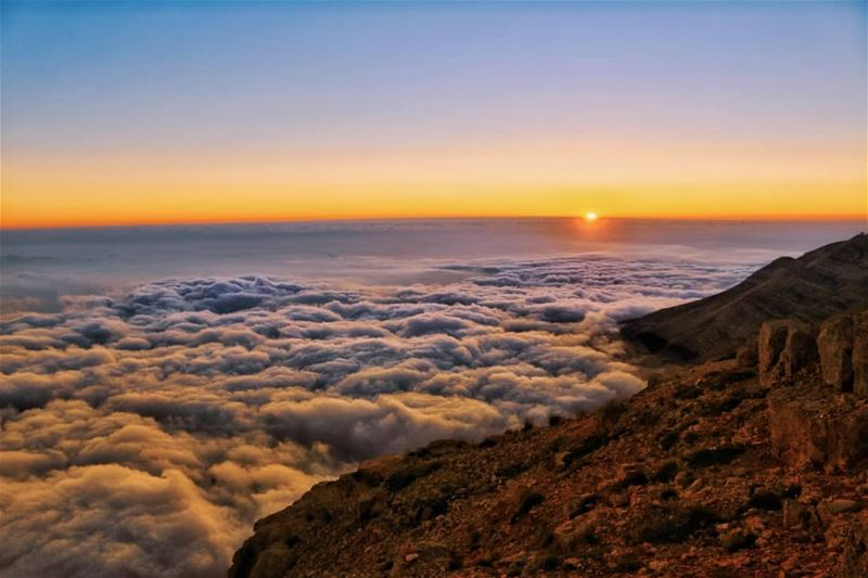 Sometimes endings are just more beautiful... lebanon sunset mountains ...