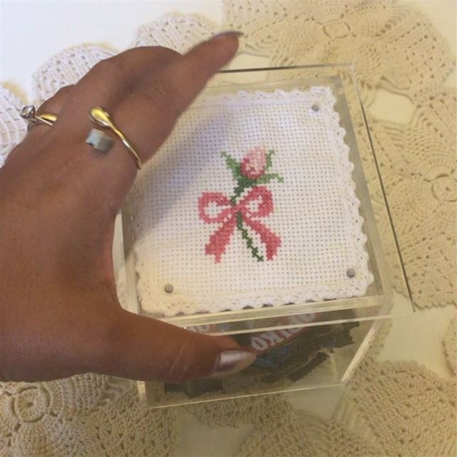 crossstitch  handmade  gift  idea  🌹  candy  case  lebanon  for  more ...