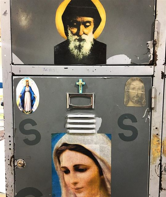 un-revealing locker  religion  lock  privacy  middleeast  christianity ... (Beirut, Lebanon)