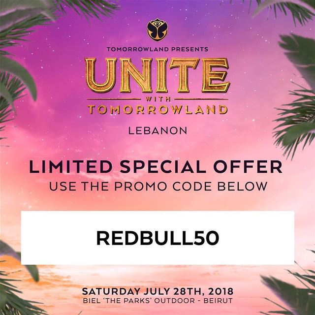 "Few days left for ""UNITE with Tomorrowland Lebanon"" 🇱🇧Use the promo... (Beirut, Lebanon)"