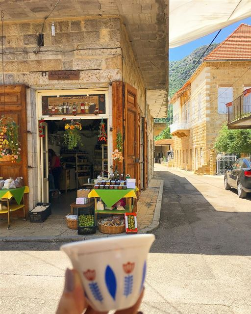 Morning from lebanese village of douma... ramramcoffee turkishcoffee... (Douma, Liban-Nord, Lebanon)