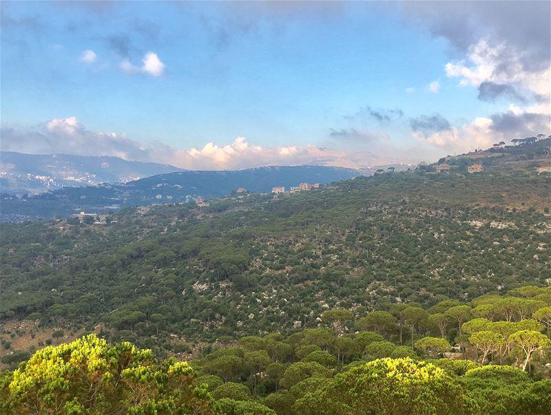 July colors 🍃☘️ July nature beauty lebanon summer afternoon ... (Ra'S Al Matn, Mont-Liban, Lebanon)