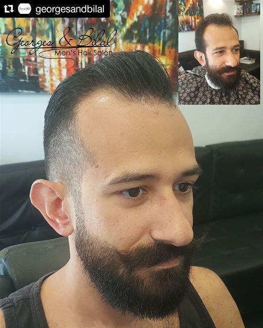 Repost @georgesandbilal (@get_repost)・・・ georgesandbilal barbershop ... (Sinn Al Fil, Mont-Liban, Lebanon)