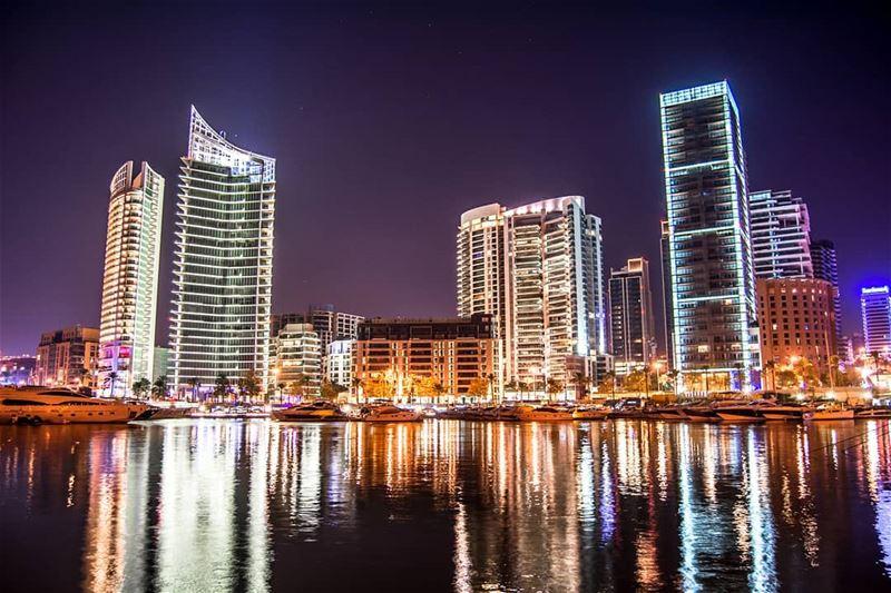 Beirut Skyline at night | Zaytuna Bay. city night lebanon cityscape ... (Beirut, Lebanon)