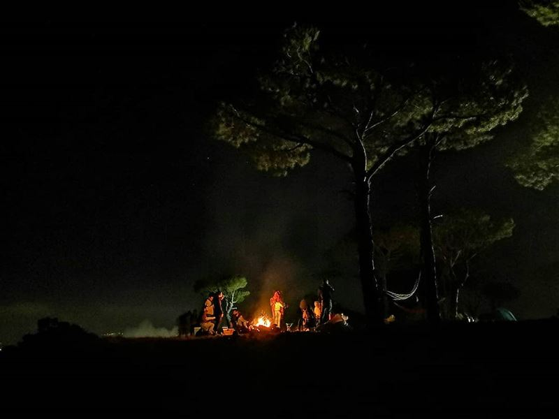 camping abovetheclouds firecamp🔥 tent 🏕️😎 camping campinglife ... (Falougha, Mont-Liban, Lebanon)