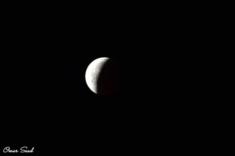 Lunar eclipse eclipse2018 astrophotography sun shadow moon moonlight... (Beirut, Lebanon)