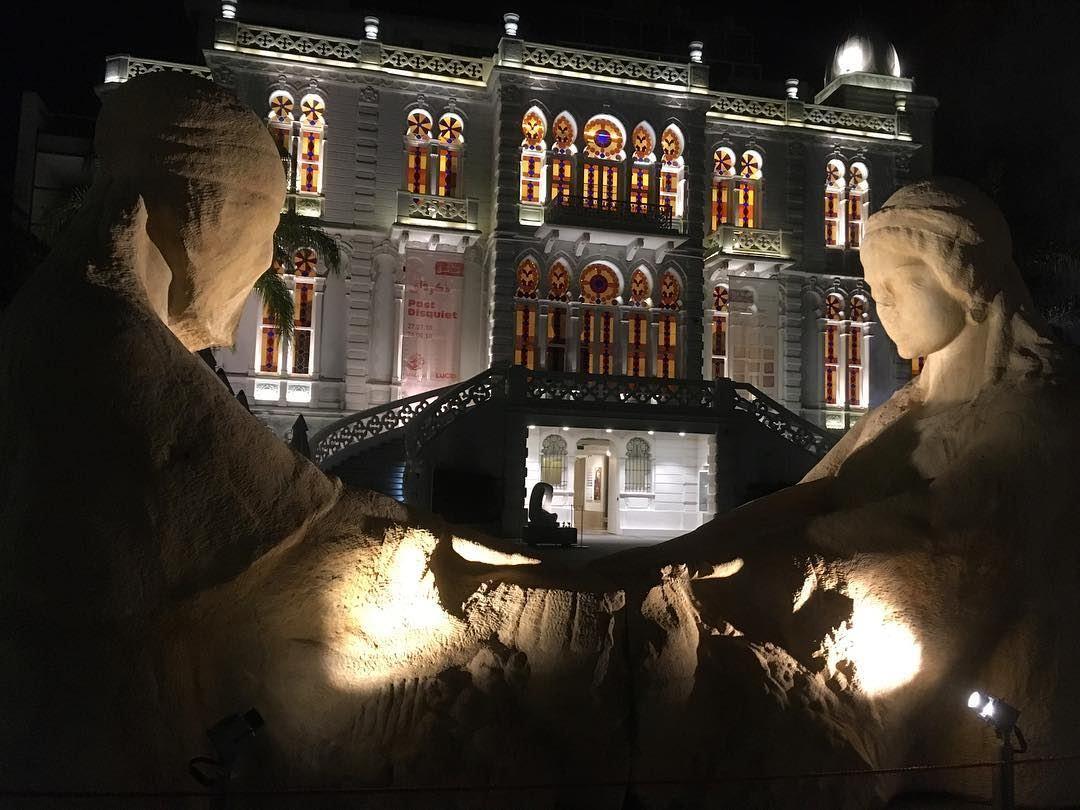 sursok museum bynight vitrail statue nofilter architecturallighting...
