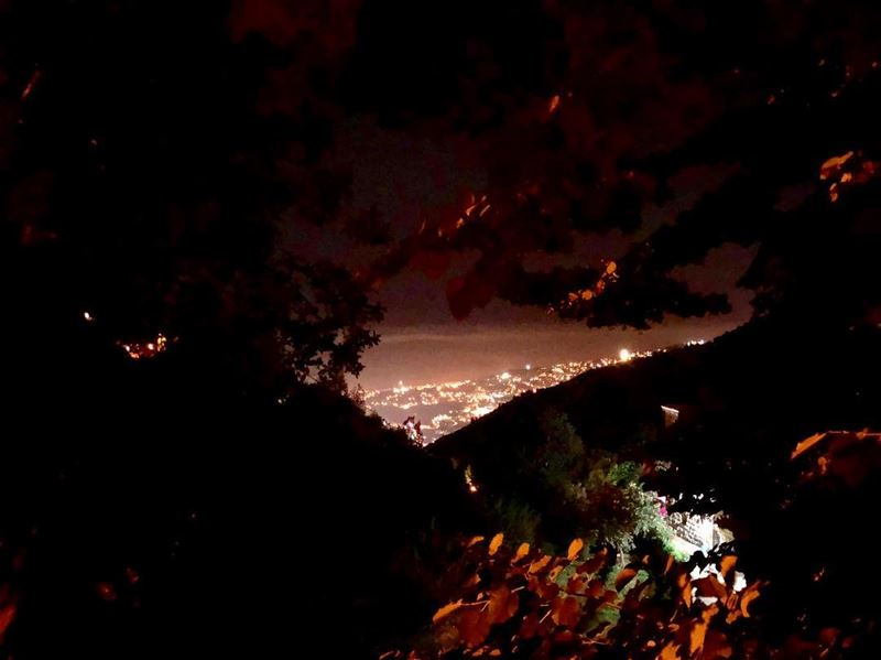 and tonight.. i'll fall asleep with you in my heart nightscape love... (Ghosta, Mont-Liban, Lebanon)