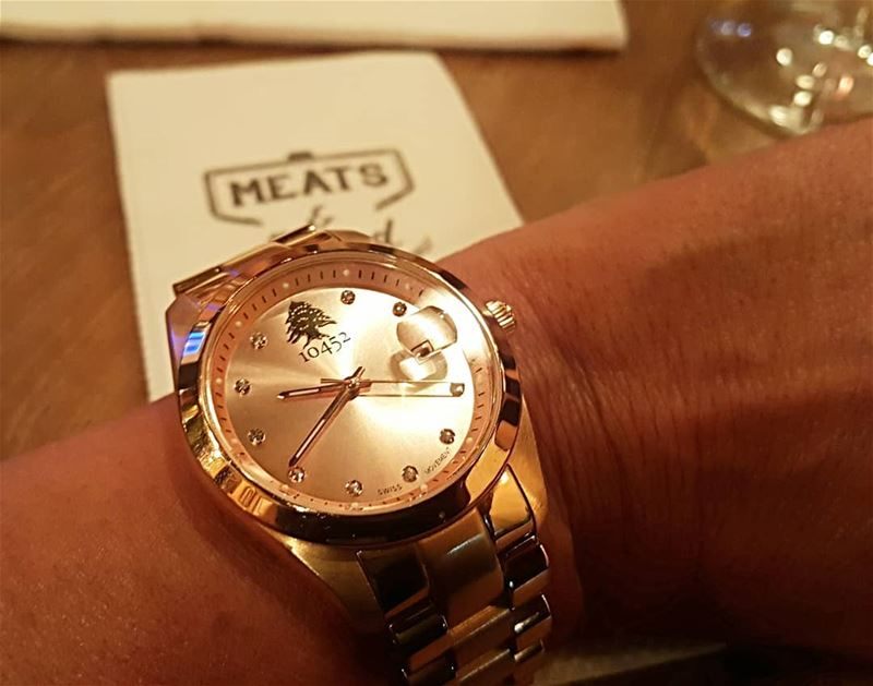 Aboutlastnight  yummy  dinner  10452  mydna my  10452DNA  rosegold  watch... (Meats and Bread)