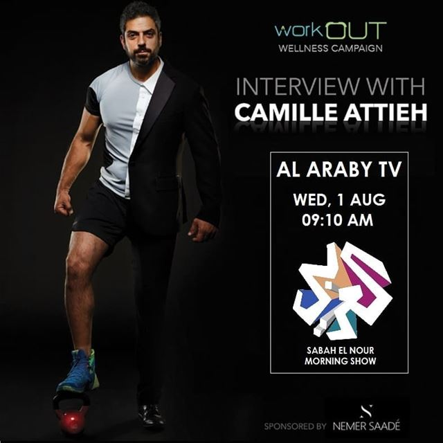Stay tuned! @camilleattieh will be on @alarabytv to discuss workOUT... (Alarabi TV)