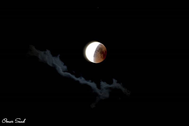 Happening in Lebanon 🇱🇧 the longest eclipse of the century moonlight ... (Lebanon)