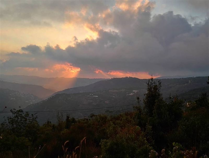 lebanon  liban  amazing  view  evening  sun  sunset  mountains ... (Qurnayil, Mont-Liban, Lebanon)