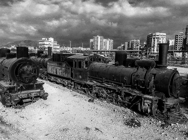 train trainstation old trains livelovemina lebanoninapicture... (Al Mina', Liban-Nord, Lebanon)