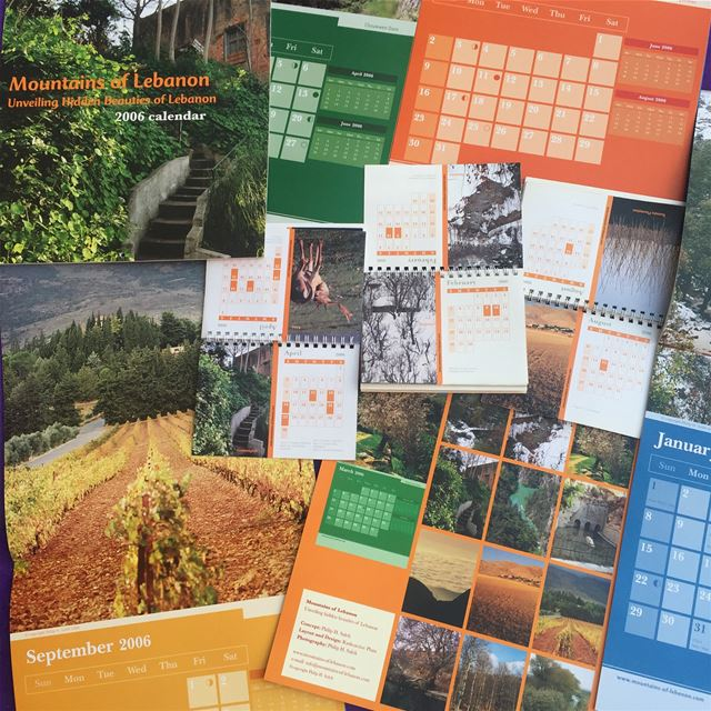 The 2006  mountainsoflebanon calendars, 2nd Edition with two sizes. The...